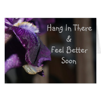 Hang In There & Feel Better Soon Greeting Card
