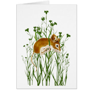 Hang in There for Caregivers Cute Watercolor Mouse Card