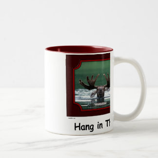 """Hang in There!"" Moose Mug"