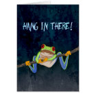 Hang in There Red-Eyed Tree Frog Get Well Card