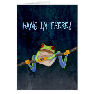Hang in There Red-Eyed Tree Frog Get Well Greeting Card