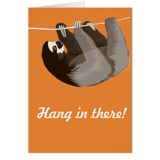 'Hang in there' Sloth card