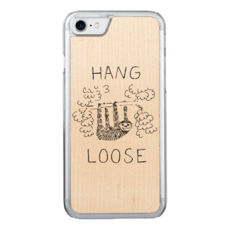 Hang Loose Sloth Carved iPhone 7 Case