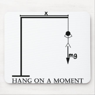 Hang On A Moment (Black Foreground) Mouse Pad