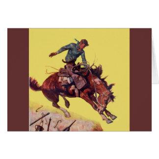 Hang On Cowboy Card