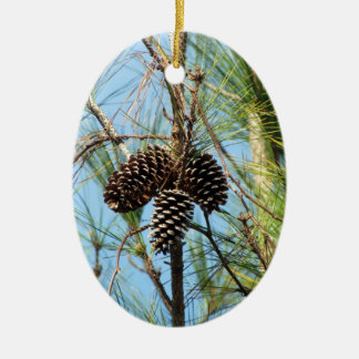 Hang some Pine Cones on Your Pine Tree!!! Ceramic Oval Decoration