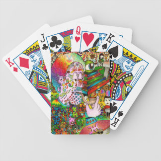 """""""Hang-Thinking Accident"""" original art by bbqshoes Bicycle Playing Cards"""