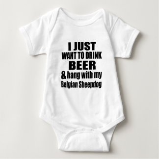 Hang With My Belgian Sheepdog Baby Bodysuit