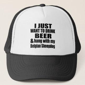 Hang With My Belgian Sheepdog Trucker Hat