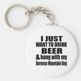Hang With My Bernese Mountain Dog Key Ring