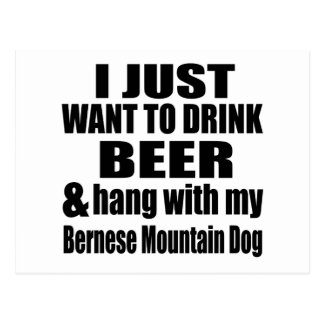 Hang With My Bernese Mountain Dog Postcard