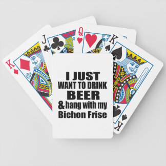 Hang With My Bichon Frise Bicycle Playing Cards