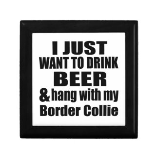 Hang With My Border Collie Small Square Gift Box