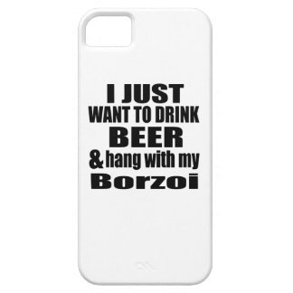 Hang With My Borzoi Barely There iPhone 5 Case