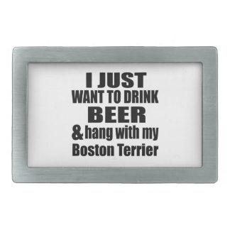 Hang With My Boston Terrier Belt Buckles