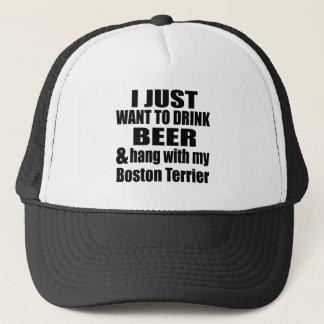 Hang With My Boston Terrier Trucker Hat