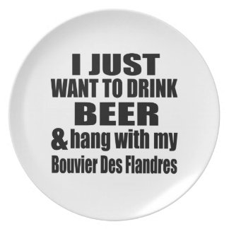 Hang With My Bouvier Des Flandres Party Plate
