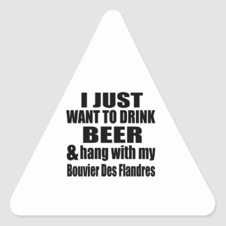 Hang With My Bouvier Des Flandres Triangle Sticker