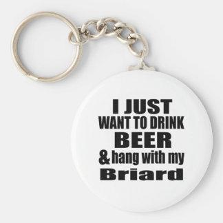 Hang With My Briard Key Ring