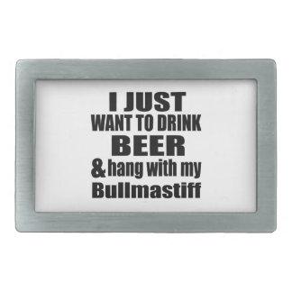 Hang With My Bullmastiff Belt Buckles