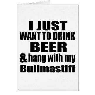 Hang With My Bullmastiff Card