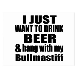 Hang With My Bullmastiff Postcard