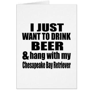 Hang With My Chesapeake Bay Retriever Card