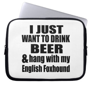 Hang With My English Foxhound Laptop Computer Sleeves