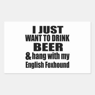 Hang With My English Foxhound Rectangular Sticker