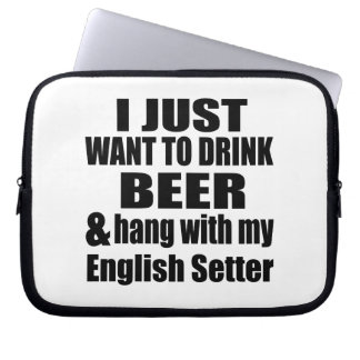 Hang With My English Setter Laptop Sleeve