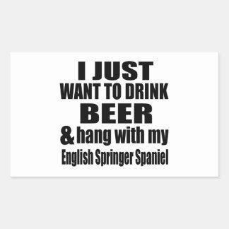 Hang With My English Springer Spaniel Rectangular Sticker
