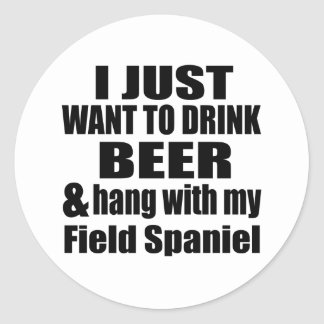 Hang With My Field Spaniel Classic Round Sticker