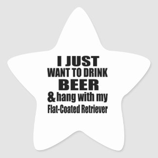 Hang With My Flat-Coated Retriever Star Sticker