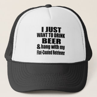Hang With My Flat-Coated Retriever Trucker Hat