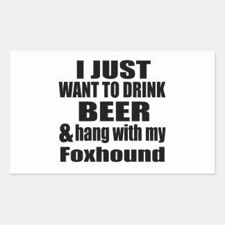 Hang With My Foxhound Rectangular Sticker
