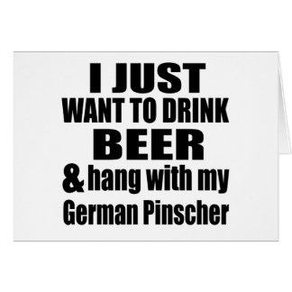 Hang With My German Pinscher Card