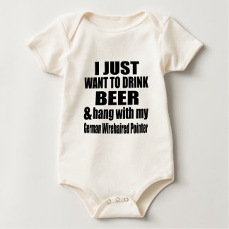Hang With My German Wirehaired Pointer Baby Bodysuit
