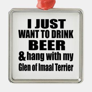 Hang With My Glen of Imaal Terrier Metal Ornament