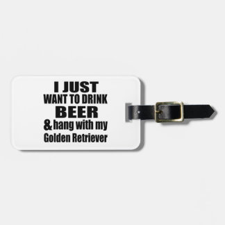 Hang With My Golden Retriever Luggage Tag