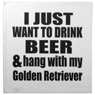 Hang With My Golden Retriever Napkin