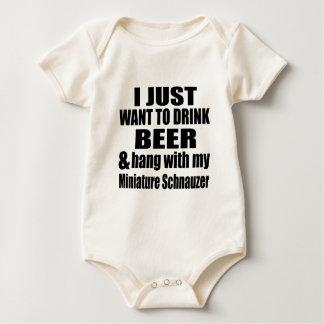 Hang With My Miniature Schnauzer Baby Bodysuit