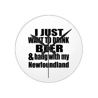 Hang With My Newfoundland Wallclock