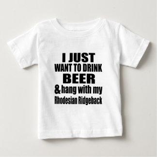 Hang With My Rhodesian Ridgeback Baby T-Shirt