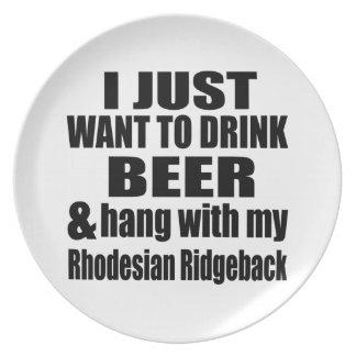 Hang With My Rhodesian Ridgeback Dinner Plate