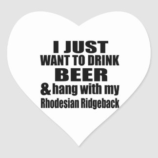 Hang With My Rhodesian Ridgeback Heart Sticker