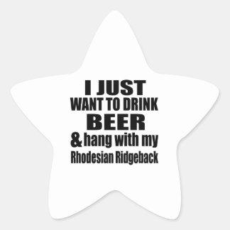 Hang With My Rhodesian Ridgeback Star Sticker