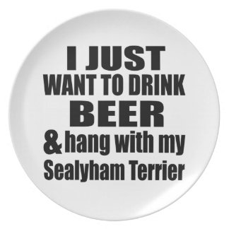 Hang With My Sealyham Terrier Plate