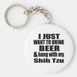 Hang With My Shih Tzu Basic Round Button Key Ring