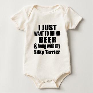 Hang With My Silky Terrier Baby Bodysuit