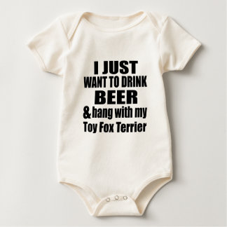 Hang With My Toy Fox Terrier Baby Bodysuit